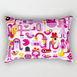 Music Festival Rectangular Pillow