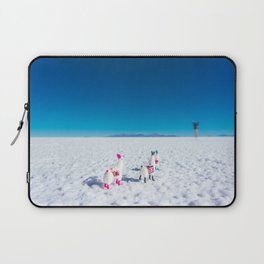 Llamas looking into the distance on the Salt Flats, Bolivia Laptop Sleeve