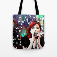 transistor Tote Bags featuring Transistor - Before We All Become One… by Danielle Tanimura