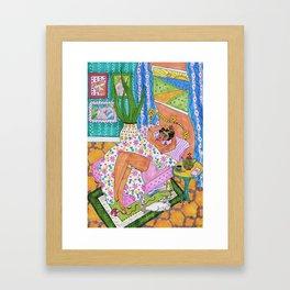 Morning chill Frida Framed Art Print