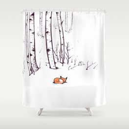 grow cold now Shower Curtain