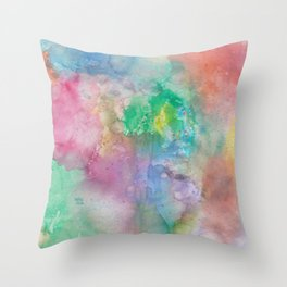 watercolor splash Throw Pillow