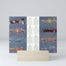 1935 Esquire New Year Car Preview No. 3: Duesenberg, Hupmobile, La Salle, Graham, Hudson, Lafayette Mini Art Print