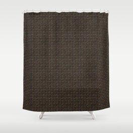 Rainbow Pattern: Black background Shower Curtain