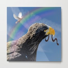 Eagle, Dove and Serpent Metal Print