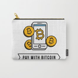 Pay With Bitcoin (Mobile Payments) Icon Carry-All Pouch
