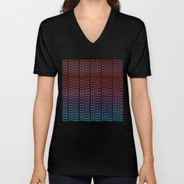 Straight and curved lines - Optical Game 19 Unisex V-Neck