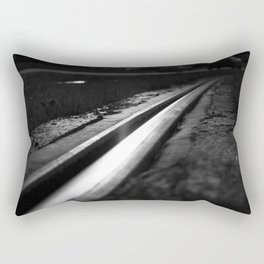 Abstract view on the railroad Rectangular Pillow