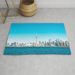 Canada Photography - The CN Tower And Toronto In The Horizon Rug