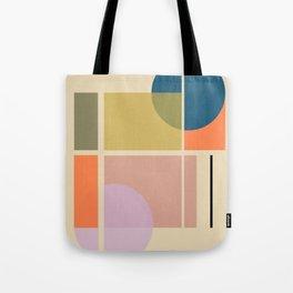 Modern geometric shapes Tote Bag