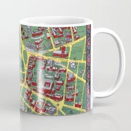 HARVARD University map CAMBRIDGE Coffee Mug