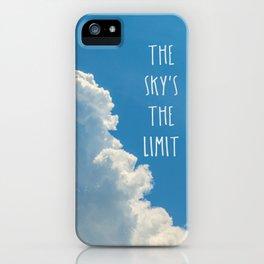 Sky's the limit - cloudscape iPhone Case