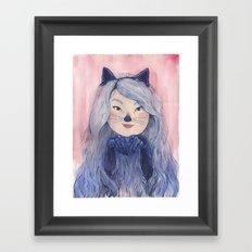 BaeBae Kitty Framed Art Print