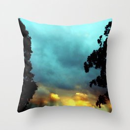 Songs of Blue and Gold Throw Pillow