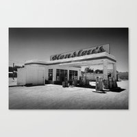 50s Canvas Prints featuring 50s Garage by King Classics