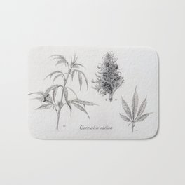 Cannabis sativa Bath Mat