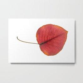 Leaf Art in Red Metal Print