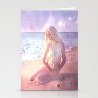 daenerys targaryen Stationery Cards featuring Contemplate by SuzanneCarter