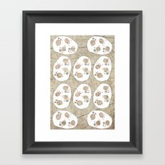 White Stones Framed Art Print
