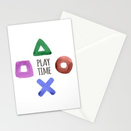 Play Time, Geeky pattern Stationery Cards