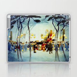 Japanese Covered Litter and Lanterns Laptop & iPad Skin