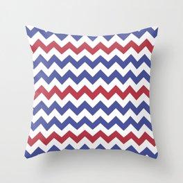 July 4th style chevron pattern Throw Pillow