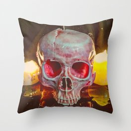 Catacomb Culture - Skull Candle Throw Pillow