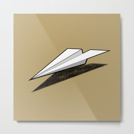 Paper Airplane 2 Metal Print
