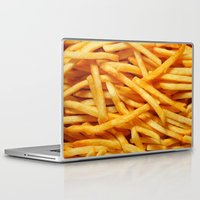 french fries Laptop & iPad Skins featuring French Fries by I Love Decor