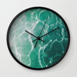 Water Reflecting Light Wall Clock