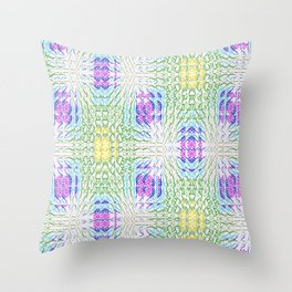 """series """"Stained glass"""" - seven colors Throw Pillow"""