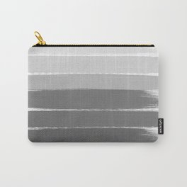 Portia - black and white gradient ombre brushstroke painting minimal art decor Carry-All Pouch