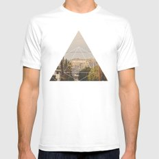 Hollywood Sign - Geometric Photography MEDIUM Mens Fitted Tee White