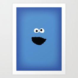 SESAME STREET cookie monster Art Print