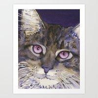 cs lewis Art Prints featuring Lewis by Cat Art by Lori Alexander