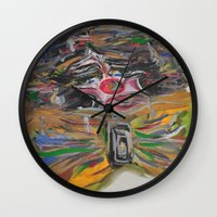 clown Wall Clocks featuring CLOWN  by Loosso