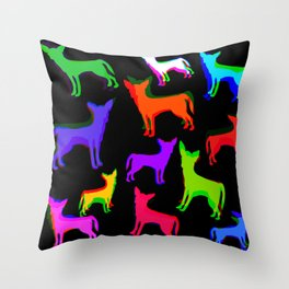 Chihuahua Pattern Throw Pillow