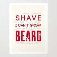 beard Art Prints featuring Beard by PaulWorm