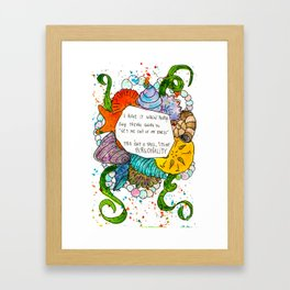 This isn't a shell, it's my personality. Framed Art Print