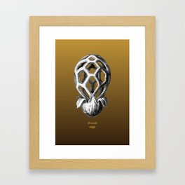 iFunch brown Framed Art Print