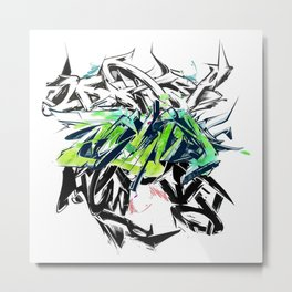 Letters Explosion 2 Metal Print