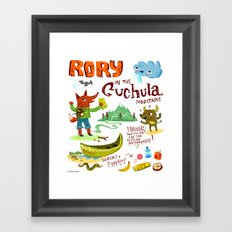 Rory In The Cuchula Mountains Framed Art Print