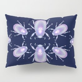 Pearly Holographic Beetle Pillow Sham