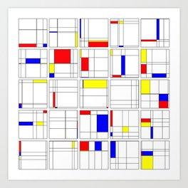 "Math Art Digital Print - ""mondRian"" Art Print"