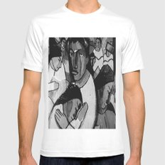 Artistic People White Mens Fitted Tee MEDIUM
