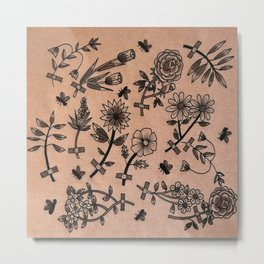 Floral fix tattoo Metal Print