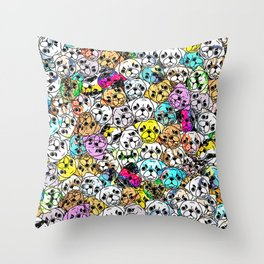 Gemstone Pugs Dogs Throw Pillow