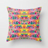 goddess Throw Pillows featuring  Goddess by dominiquelandau