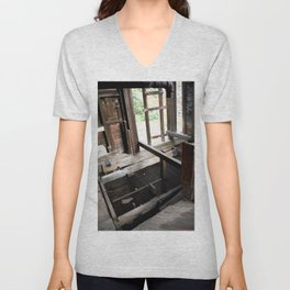 Exploring the Longfellow Min of the Gold Rush - A Series, No. 6 of 9 Unisex V-Neck