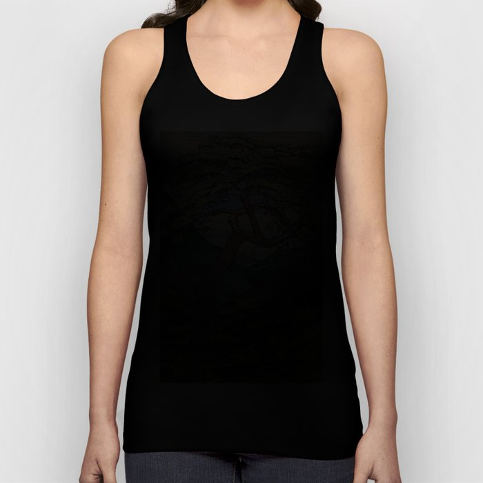 The Downwards Climbing Unisex Tanktop